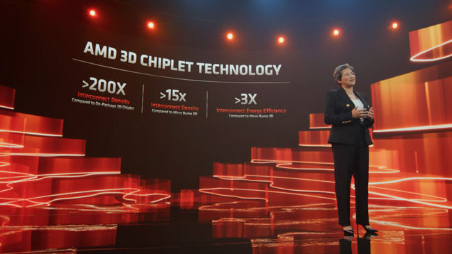 AMD 3D packaging benefits over competing technologies